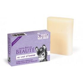 Savon Bio de beauté au lait d'Ânesse parfumé à huile essentielle de Lavande – 100 gr – Cosmo Naturel