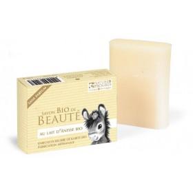 Savon Bio de beauté au lait d'Ânesse enrichi au beurre de karité – 100 gr – Cosmo Naturel
