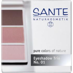 Poudre fard à paupières trio Rose - Maquillage Sante