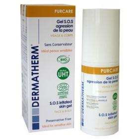 Purcare - Gel S.O.S agression de la peau Visage et corps – 50ml – Dermatherm