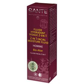 Fluide hydratant visage 2 en 1 Homme Bio Aloé – 50 ml - Sante