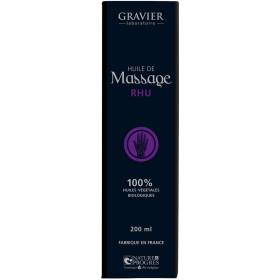 Huile de massage RHU – 100 ml – Laboratoire Gravier