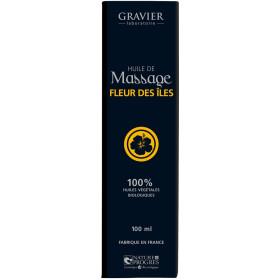 Huile de massage Fleurs des Îles – 100 ml – Laboratoire Gravier