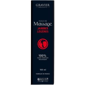 Huile de massage Jambes légères – 100 ml – Laboratoire Gravier