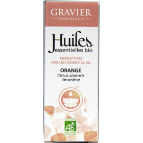 Orange douce AB - Zeste - 10 ml - Huile essentielle Laboratoire Gravier