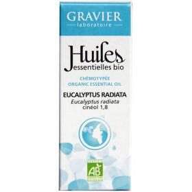 Eucalyptus radiata AB - Feuilles - 10 ml - Huile essentielle Laboratoire Gravier