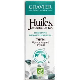 Thym à thymol AB - Plante fleurie - 5 ml - Huile essentielle Laboratoire Gravier