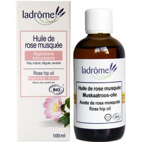 Huile végétale de rose musquée bio – 100ml – Ladrôme