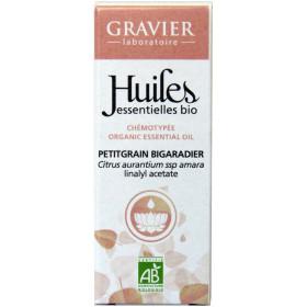 Petit grain bigarade AB - Feuilles - 10ml - Huile essentielle Laboratoire Gravier