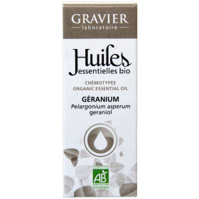 Géranium AB - Plante -10 ml - Huile essentielle Laboratoire Gravier