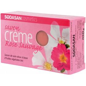 Savon crème à la Rose sauvage bio - Sodasan - 100 gr