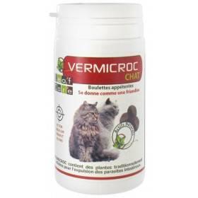 Vermifuge VERMICROC chat - boulette appétente - 40 grs