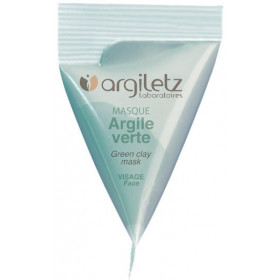 Berlingot masque argile verte – 15ml – Argiletz