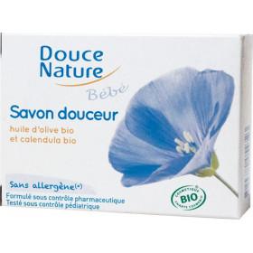 Savon douceur bébé olive et calendula Bio - 100 gr - Douce Nature
