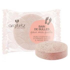 Galet effervescent pour bain de pieds à l'argile rose et à l'orange douce - Argiletz