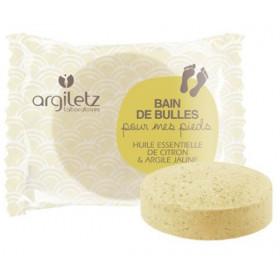 Galet effervescent pour bain de pieds à l'argile jaune et au citron - Argiletz