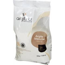 Argile blanche brute Kaolinite ultra-ventilée – 200 gr – Argiletz