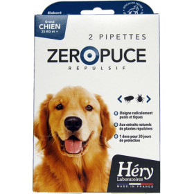 Pipettes Zéro Puce Répulsives – Grand Chien - Pipettes 5 ml – Héry