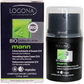 Crème hydratante et lissante Q10 - 50 ml - Logona Mann
