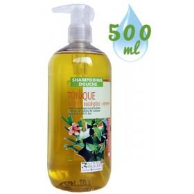 Shampooing douche Tonique Menthe Eucalyptus Verveine – 500 ml – Cosmo Naturel