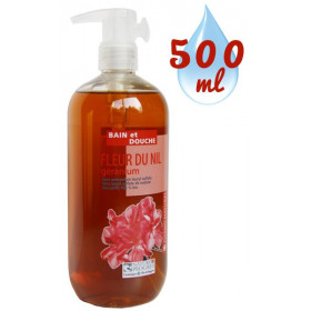 Gel bain & douche Fleur du Nil Géranium – 500ml – Cosmo Naturel