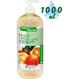 Gel bain & douche Fruité Mandarine Orange – 1000ml – Cosmo Naturel