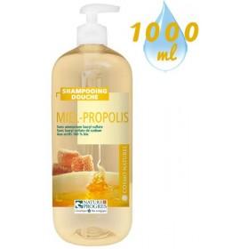 Shampooing douche Miel Propolis – 1000ml – Cosmo Naturel