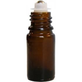 Flacon roll-on 5 ml en verre jaune et bille acier - Penntybio