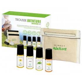 Trousse Aventure avec 4 Roll'on aux huiles essentielles