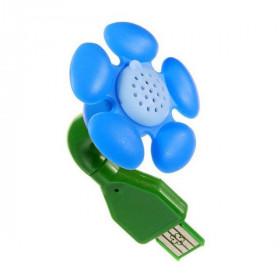 Diffuseur Fleur USB Bleu
