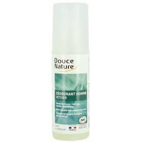 Déodorant corporel Homme - Huile essentielle Vétiver Bio – spray de 125 ml - Douce Nature