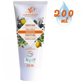 Shampooing Fortifiant Quinquina Sauge Citron – 200 ml – Cosmo Naturel