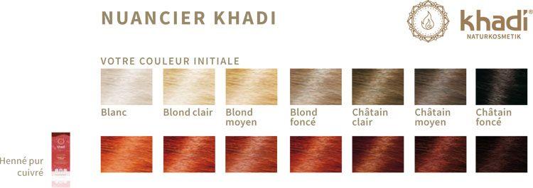 Nuancier Khadi Henné Pur rouge