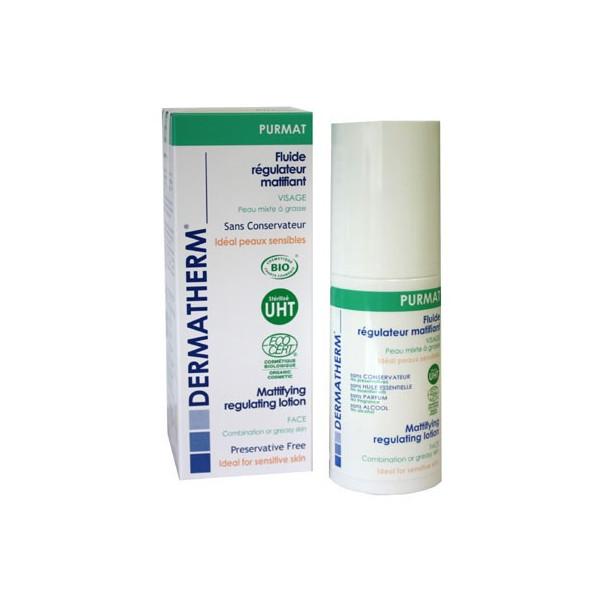 Purmat - Fluide régulateur matifiant Visage – 50ml – Dermatherm