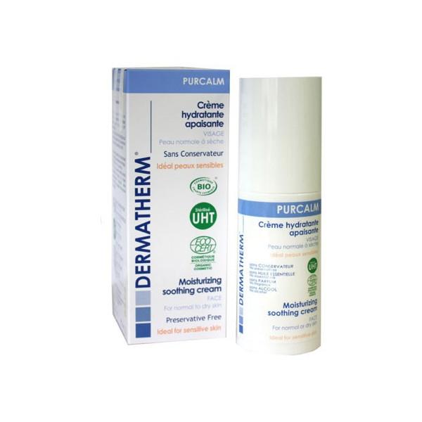 Purcalm - Crème hydratante apaisante Visage – 50ml – Dermatherm