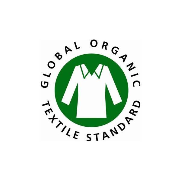 Logo GOTS pour les bâtonnets sécurité bébé extrémités 100% coton bio – x56 - Douce Nature
