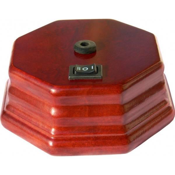 Pompe octogonale seule bois foncé pour diffuseur d'huiles essentielles