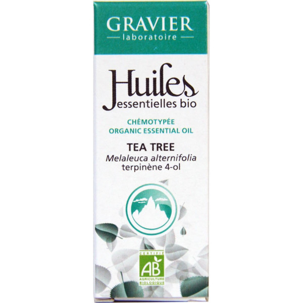 Huile essentielle de tea tree bio 10 ml - Laboratoire Gravier