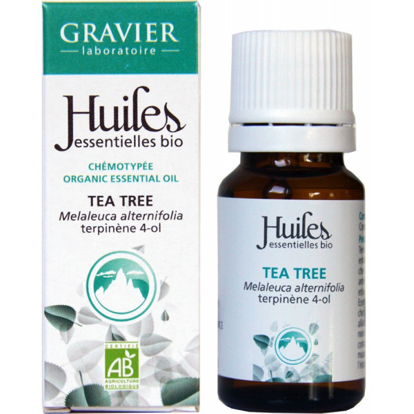 Huile essentielle de tea tree bio 10 ml - Laboratoire Gravier - Vue 2