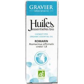 Huile essentielle de romarin à cinéole bio 10 ml - Laboratoire Gravier