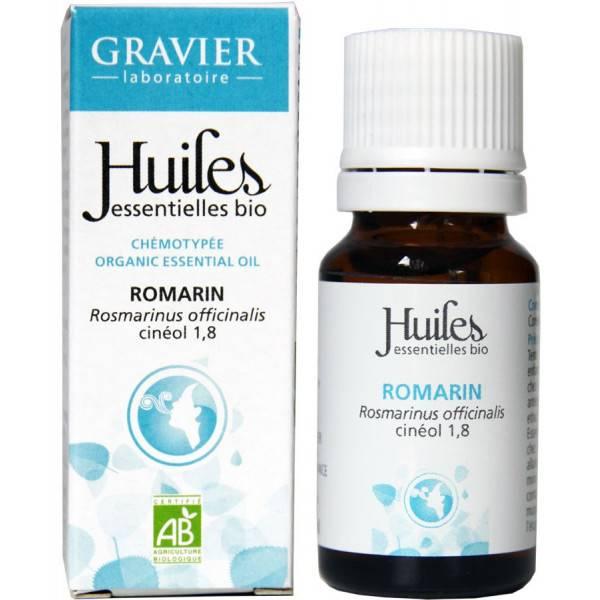 Huile essentielle de romarin à cinéole bio 10 ml - Laboratoire Gravier - Vue 2