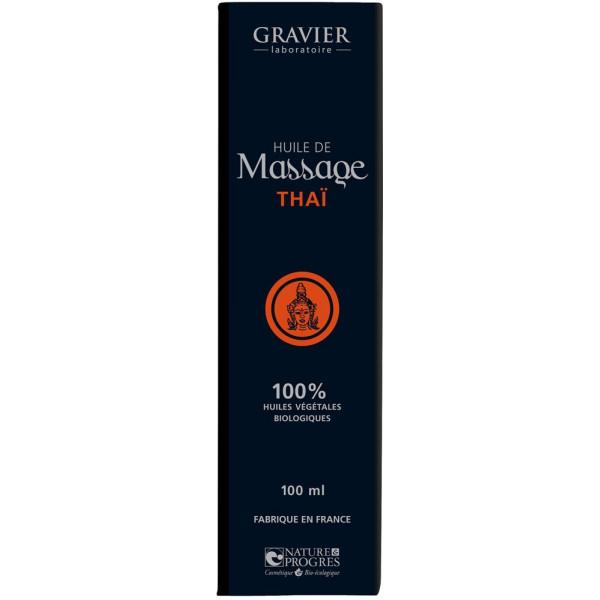 Huile de massage THAÏ – 100ml – Laboratoire Gravier - Vue 2