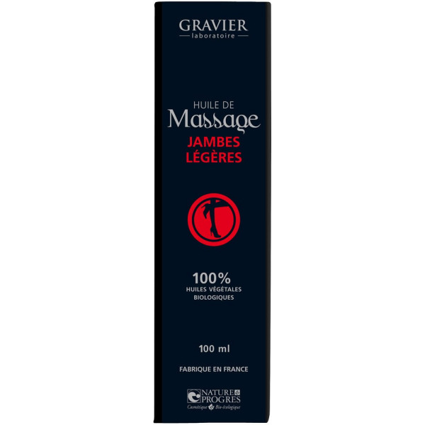 Huile de massage Jambes légères – 100ml – Laboratoire Gravier - Vue 2