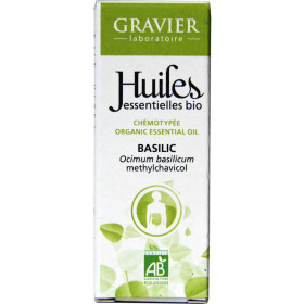 Basilic AB - Plante fleurie - 10ml - Huile essentielle Laboratoire Gravier - Vue 2