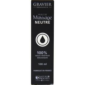Huile de massage neutre – 100ml – Laboratoire Gravier - Vue 2