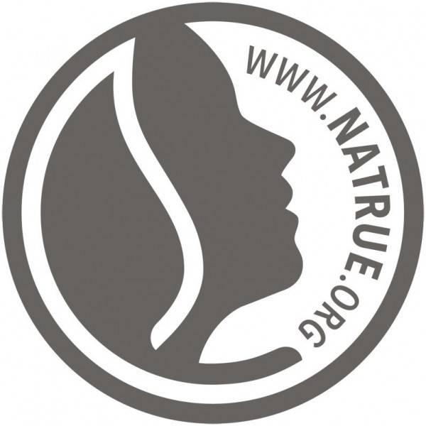 Logo Natrue pour le lait nettoyant riche à la rose de Damas bio et Kalpariane - 125 ml - Logona