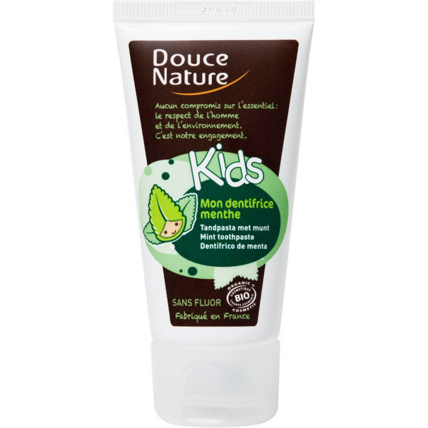 Dentifrice Menthe Kids sans fluor - Douce Nature - 50ml
