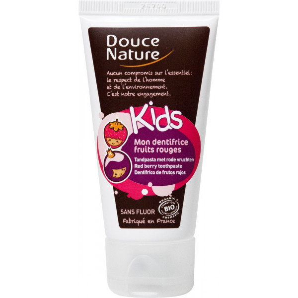 Dentifrice Fruits rouges Kids sans fluor - Douce Nature - 50ml
