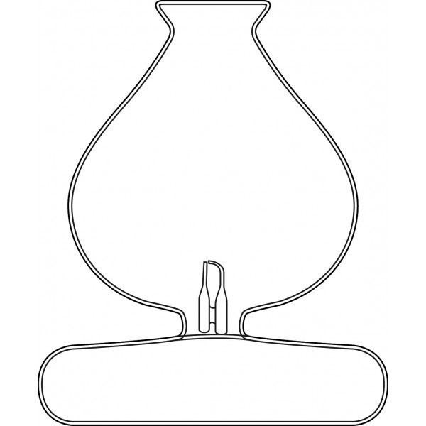 Verrerie pour diffuseur - modèle Tsylia - Dessin technique