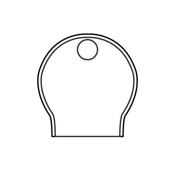 Silencieux en verre modèle Tsylia - pour verrerie de diffuseur - Dessin technique